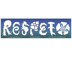 CS056 - RESPETO Sea Life Large Bumper Sticker