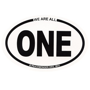 OM003 - We are all ONE Mini Oval ID Sticker