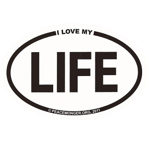 OM010 - I Love My LIFE Mini Oval ID Sticker