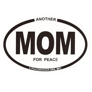 OM012 - Another MOM for Peace Mini Oval ID Sticker