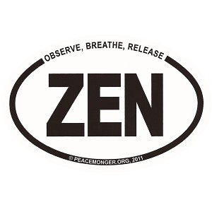 OM022 - Observe, Breath, Release...ZEN Mini Oval ID Sticker