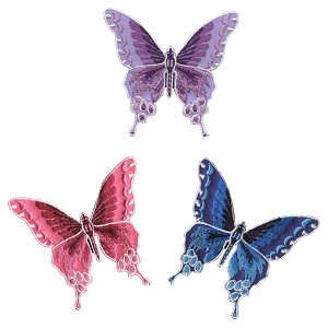 P147 - Iron on Embroidery Butterfly Patch