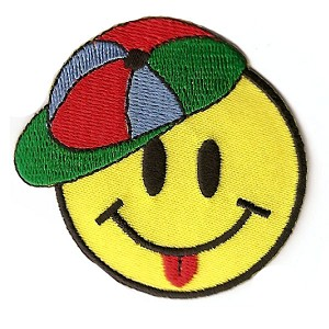 P159 - Smiley Face With Cap Patch