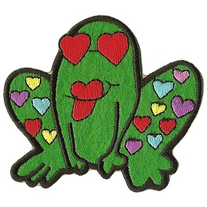 P170 - Frog with Hearts Patch