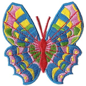 P171 - Colorful Rainbow Butterfly iron on Embroidery Patch