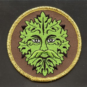 P064 - Green Man Embroidered Patch