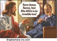 EM248 - Sure Jesus Saves but his 401K is in trouble! Magnet (7444)