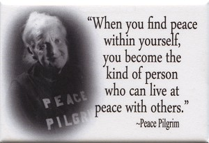 When You Find Peace Within Yourself You Become The Kind Of Person