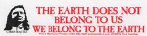 MS59 - Earth Does Not Belong Mini Sticker