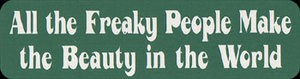 MS71 - All Freaky People Mini Sticker