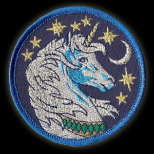P81 - Tie Dye Bolt Embroidered Patch