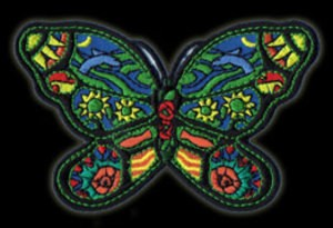 P021 - Small Butterfly Embroidered Patch