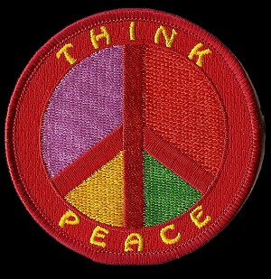"P208 - ""Think Peace"" Peace Sign Patch"