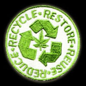 P042 - Reuse/Recycle Embroidered Patch