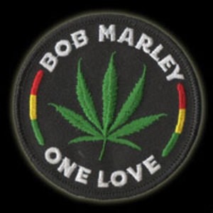 P078 - One Love Leaf Embroidered Patch