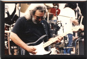 RC04 - Jerry Garcia at the Frost Amphitheater, Space Fridge Magnet
