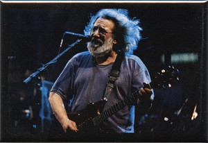 RC05 - Jerry Garcia at Three rivers stadium, Birdsong Fridge Magnet