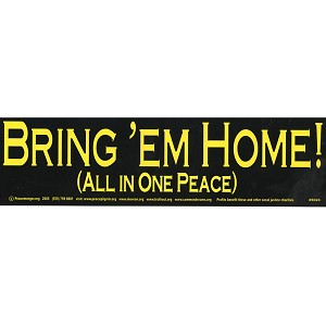 S024 - Bring 'em Home Large Bumper Sticker