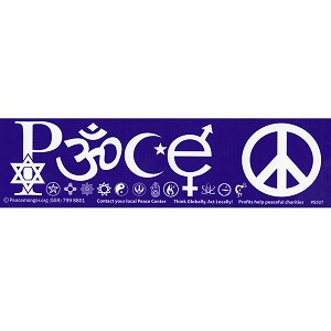 S027 - Peace Symbols Large Bumper Sticker