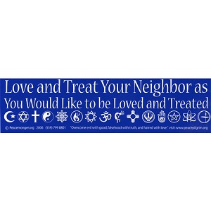S028 - Love Neighbor Bumper Sticker