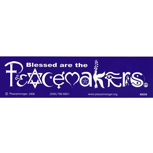 S059 - Peacemakers in SymbolGlyphs Bumper Sticker