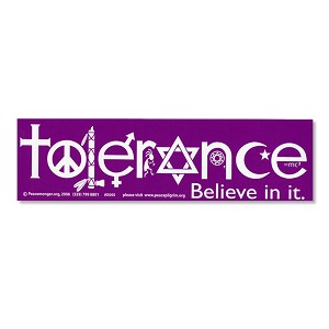 S060 Tolerance Symbol Interfaith Peace Love Unity Decal Bumper Sticker