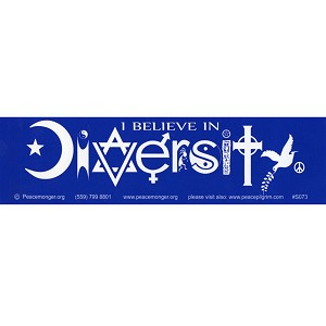 S073 - I Believe in Diversity Bumper sticker
