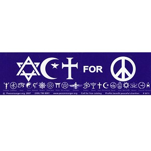 S074 - Act for Peace Bumper Sticker