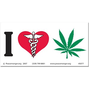 S077 - Medical Marijuana Bumper Sticker