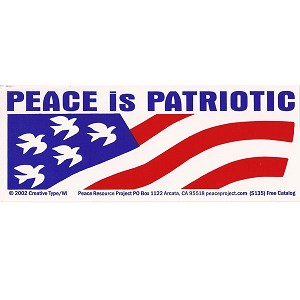 S120 - Peace is Patriotic Bumper Sticker