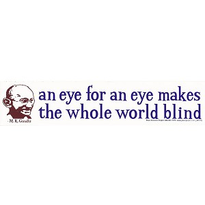 S151 - Eye for an Eye Bumper Sticker