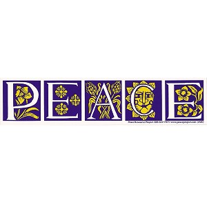 S155 - Antique Peace Bumper Sticker