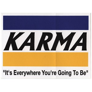 S173 - Karma Bumper Sticker