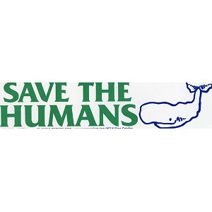 S181 - Save the Humans Bumper Sticker