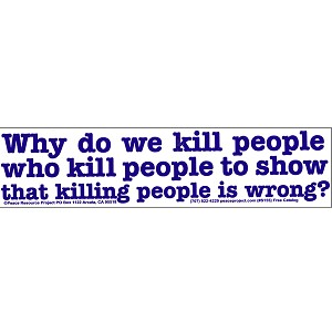 S227 - Why do We Kill Large Bumper Sticker