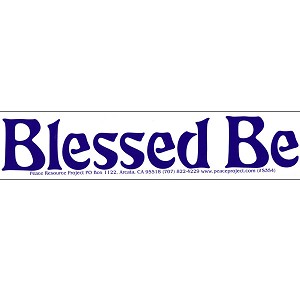 S336 - Blessed Be Bumper Sticker