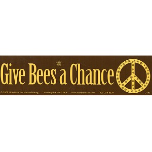 S443 - Give Bees A Chance Bumper Sticker