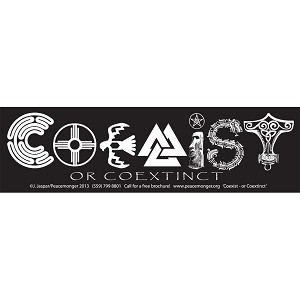 MS231 - Coexist or Coextinct Original Mini Sticker