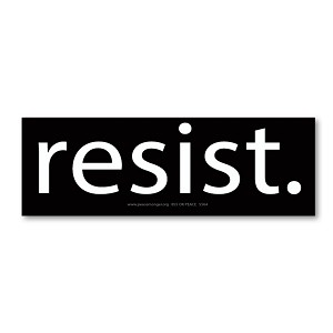 S564 - Resist - Anti Trump Sticker