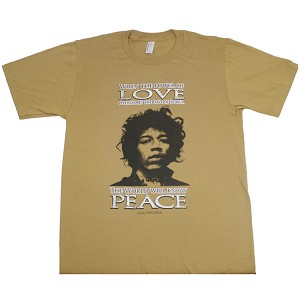 T135 - Power of Love Jimi Hendrix Quote American Apparel Unisex / Men's T-shirt