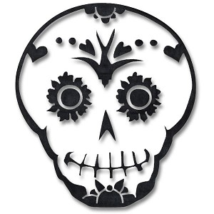 V001 - Sugar Skull Vinyl Cutout Sticker