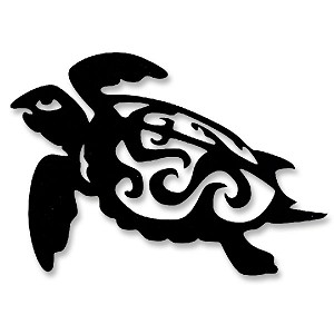 V072 - Tribal Sacred Turtle Vinyl Cutout Window Sticker